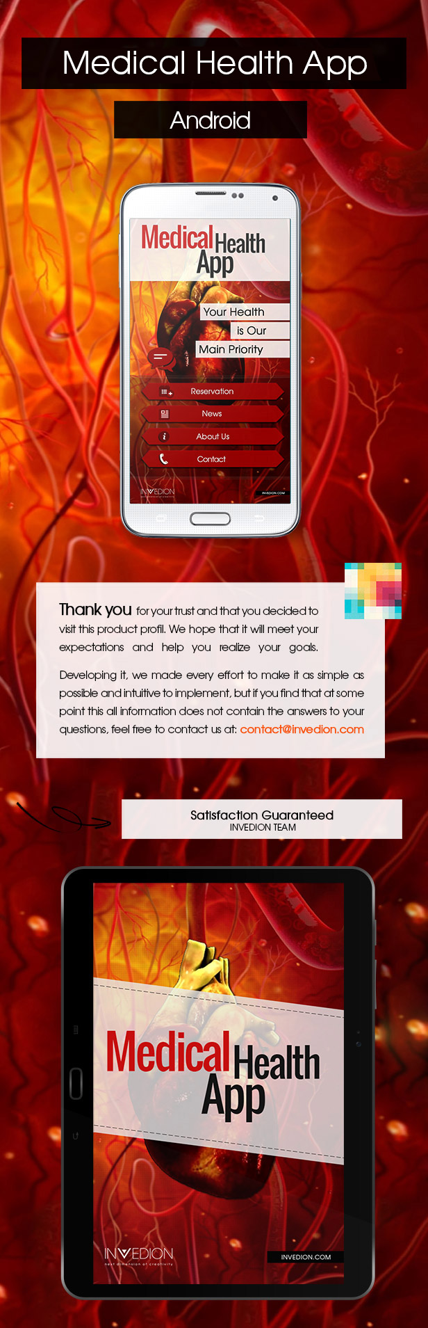 Medical Health App With CMS - Android - 2