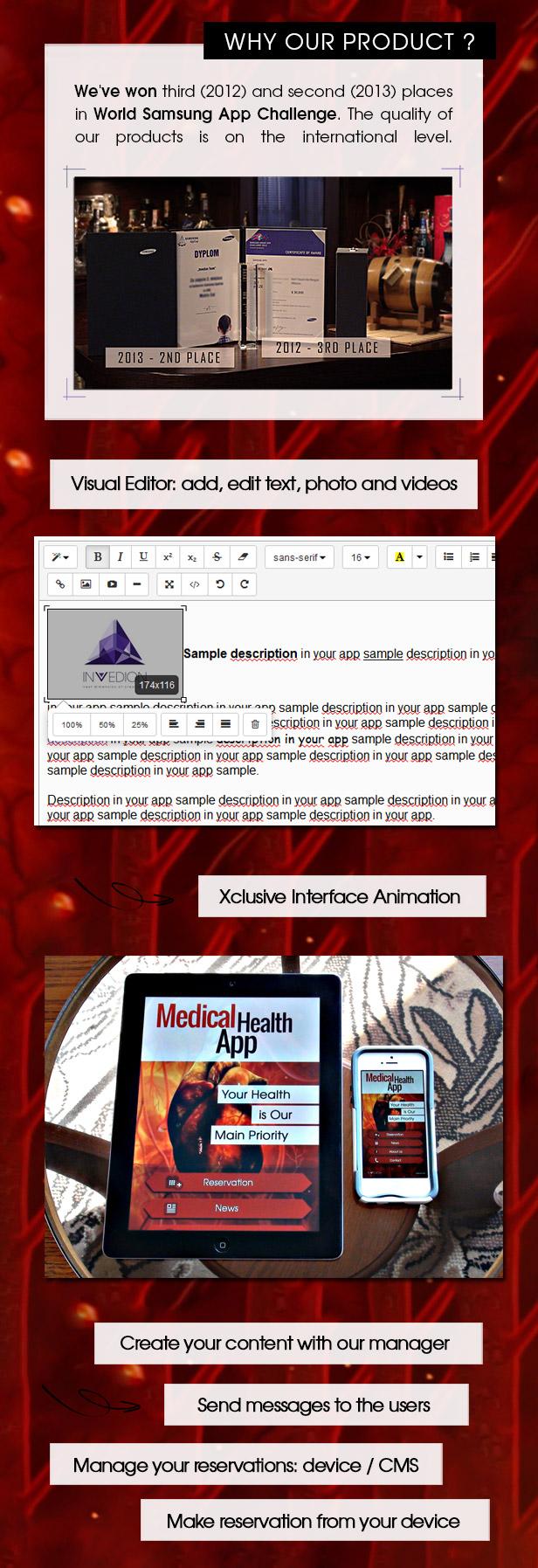 Medical Health App With CMS - iOS - 3