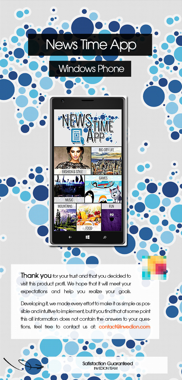 News Time App With CMS - Windows Phone - 1