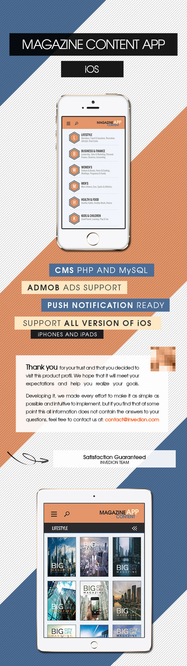 Magazine Content App With CMS - iOS [ AdMob | Push Notifications | Offline Storage ] - 2