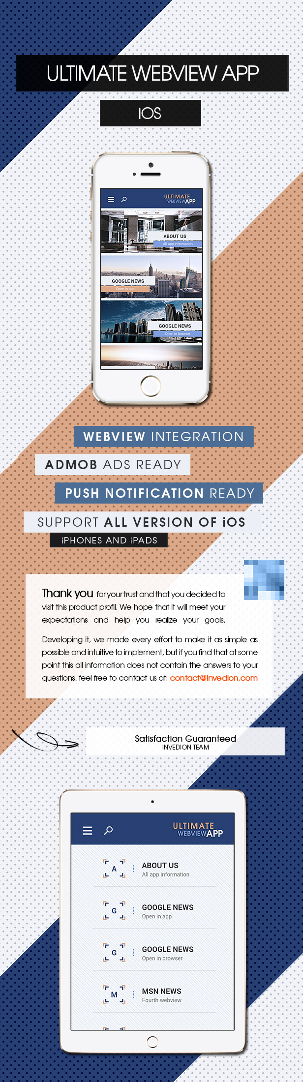 Ultimate Webview App - iOS [ AdMob & Push Notifications ] - 1