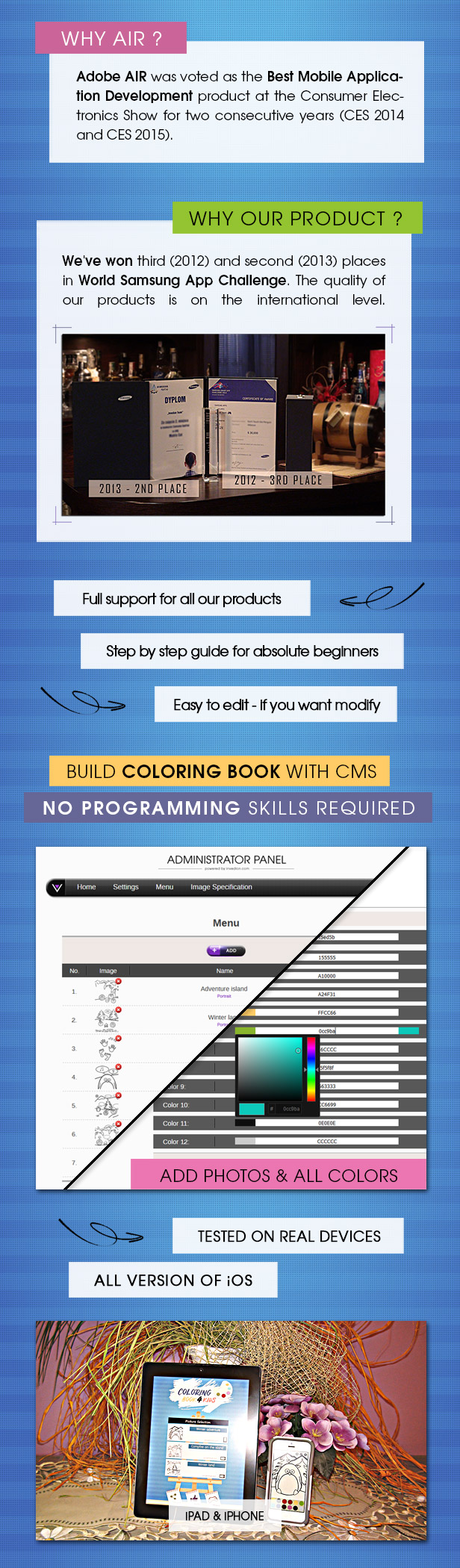 Coloring Book For Kids With CMS & AdMob - iOS - 3