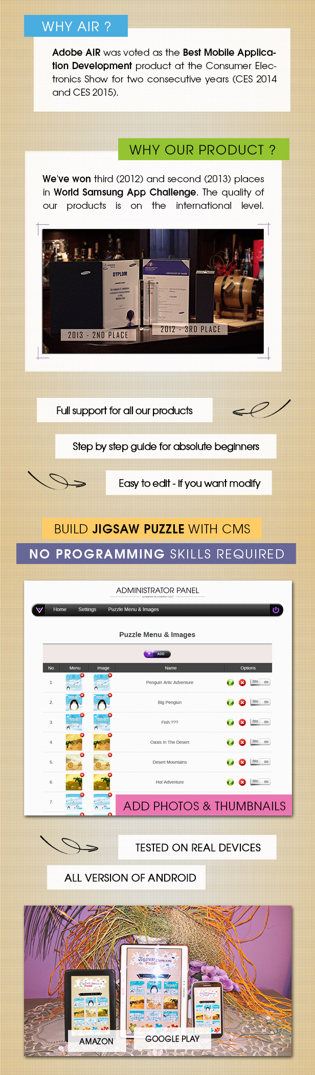 Jigsaw Cartoon Puzzle With CMS & AdMob - Android - 3