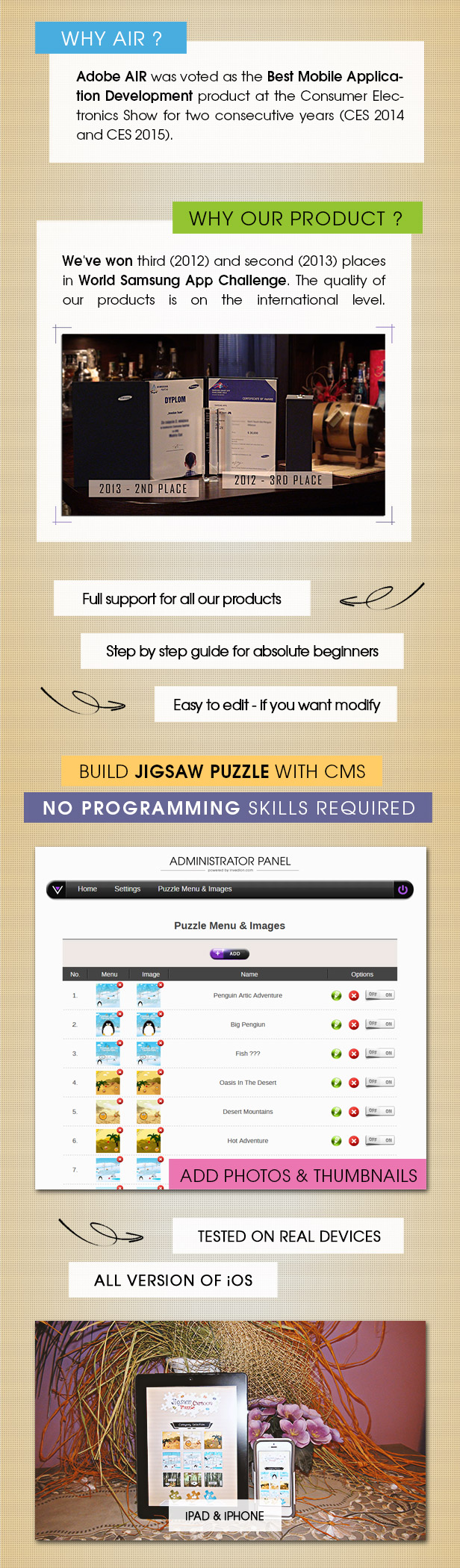 Jigsaw Cartoon Puzzle With CMS & AdMob - iOS - 3