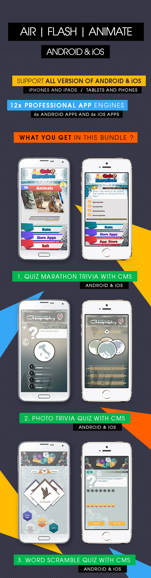 Giga Quiz Bundle Pack - Android & iOS [ 12x Apps ] - 2