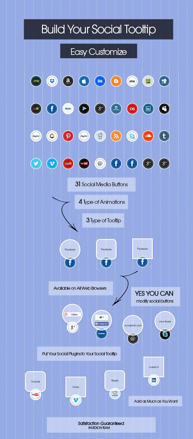 Social Tooltip Buttons - 1